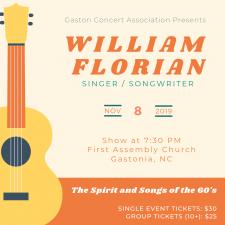 william florian concert poster